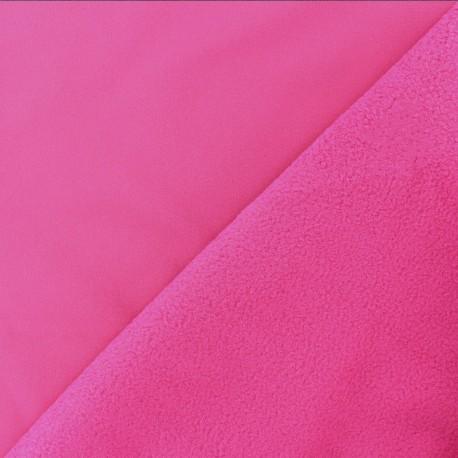 Tissu Softshell uni - rose Fuchsia x 10cm