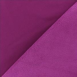 Tissu Softshell uni - prune x 10cm