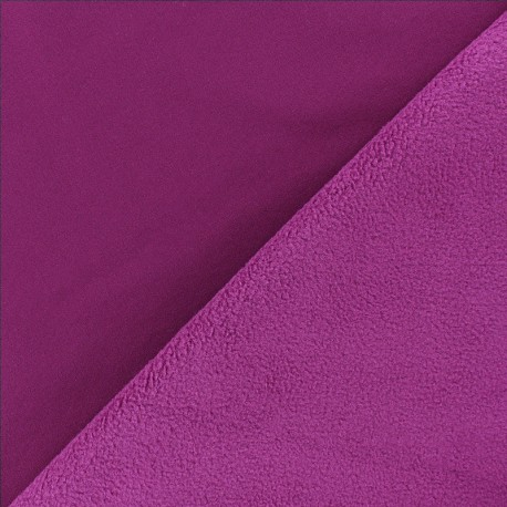 Water-repellent Softshell fabric – plum purple x 10cm