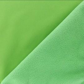 Tissu Softshell uni - vert pomme x 10cm