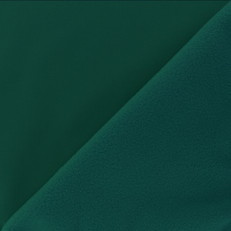 Water-repellent Softshell fabric – Emerald green x 10cm