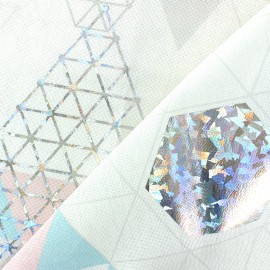 Tissu coton Nordic winter - blanc x 50cm