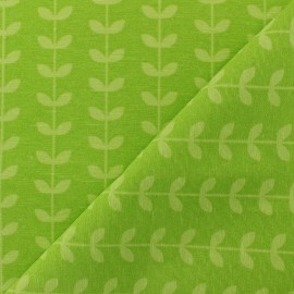 Polycotton fabric - Lime Green Scandi pop x 10cm