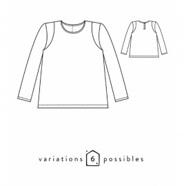 Children Sweatshirt Sewing Pattern - Scämmit Scammit