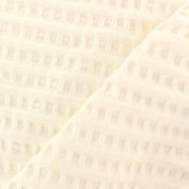 Tissu coton nid d'abeille XL - écru x 10cm