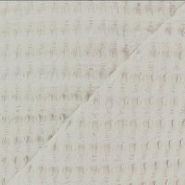 Double-sided Big Waffle cotton fabric - sand x 10cm