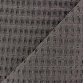 Tissu coton nid d'abeille XL - taupe x 10cm