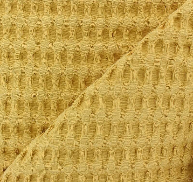 fc1e13104a Double-sided Big Waffle cotton fabric - mustard yellow - MPM