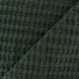 Tissu coton nid d'abeille XL - vert sapin x 10cm
