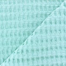 Tissu coton nid d'abeille XL - vert mint x 10cm