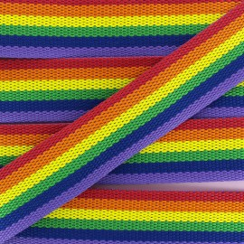 40 mm Polyester Strap - Popsicle Rainbow x 50cm