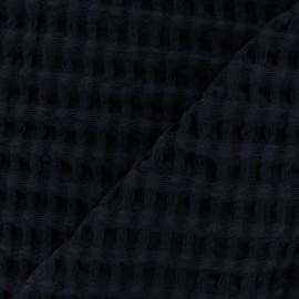 Tissu coton nid d'abeille XL - noir x 10cm