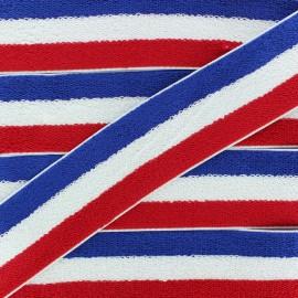 45 mm Reversible Sponge Elastic Ribbon - Tricolor x 50cm