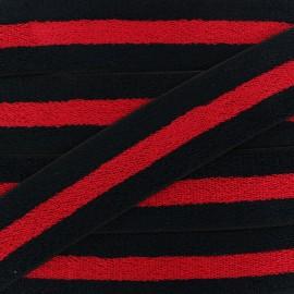 45 mm Reversible Sponge Elastic Ribbon - Black x 50cm