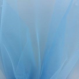 ♥ Coupon 200 cm X 145 cm ♥ Tulle bleu ciel