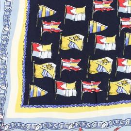♥ Coupon 210 cm X 150 cm ♥ Tissu Viscose Soleil à Tribord - beige