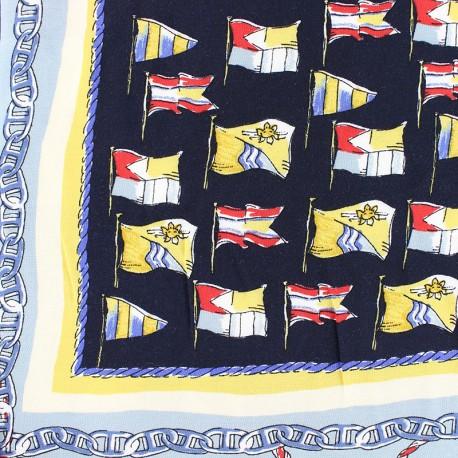 Striped Viscose fabric - beige Gabrielle x 35cm