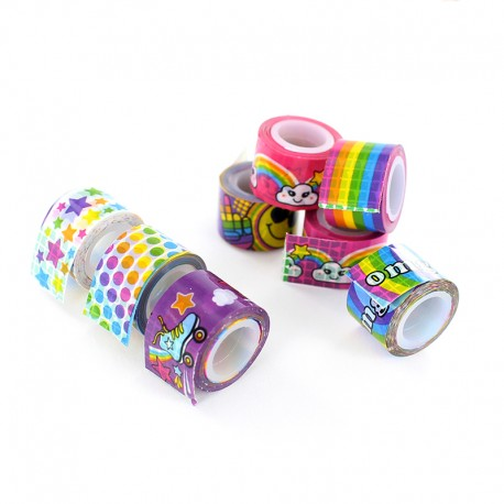 Mini Decorative Tape (100 Pack) - Peace and Love