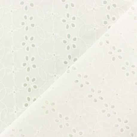 Openwork cotton fabric - off-white Chelsea x 10cm