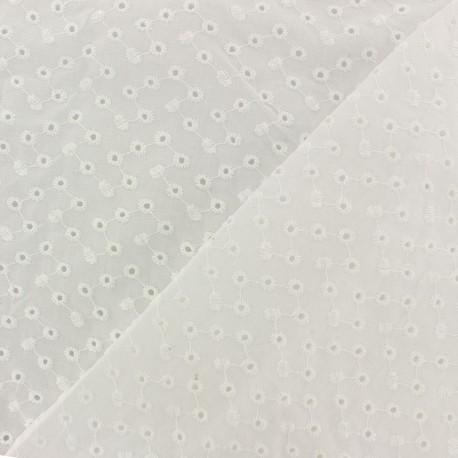 Openwork cotton fabric - off-white Portobello x 10cm