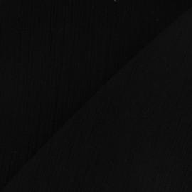 Tissu crépon noir x 10cm