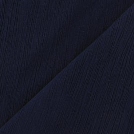 Seersucker fabric - Navy x 10cm