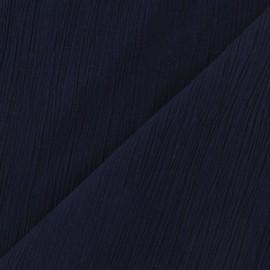 Tissu crépon marine x 10cm