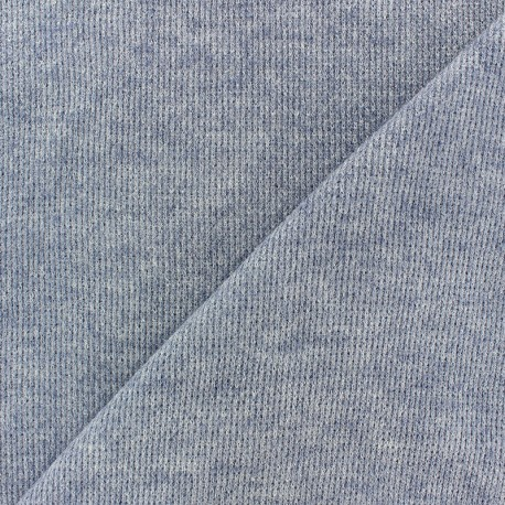 light knitted Fabric - navy blue Mia x 10cm