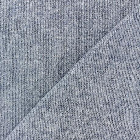 Tissu Maille légère Mia - bleu marine x 10cm