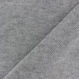 light knitted Fabric - dark grey Mia x 10cm