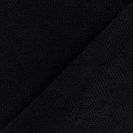 light knitted Fabric - black Mia x 10cm