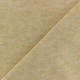 light knitted Fabric - ochre Mia x 10cm