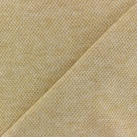 Tissu Maille légère Mia - ocre x 10cm