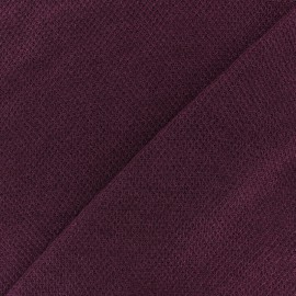light knitted Fabric - burgundy Mia x 10cm