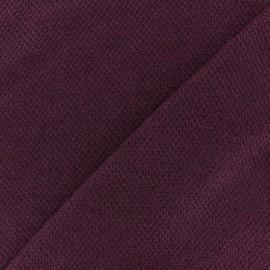 Tissu Maille légère Mia - Bordeaux x 10cm