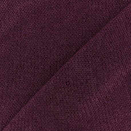 light knitted Fabric - burgundy Mia x 10cm