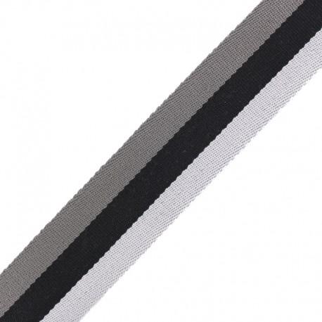 Sangle Rayée Réversible Nuance 40 mm - Gris x 50cm