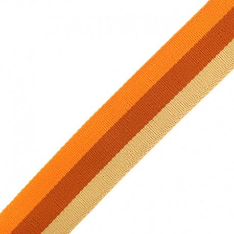 Sangle Rayée Réversible Nuance 40 mm - Orange x 50cm