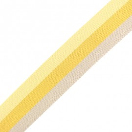 40 mm Reversible Striped Strap - Nuance Yellow x 50cm