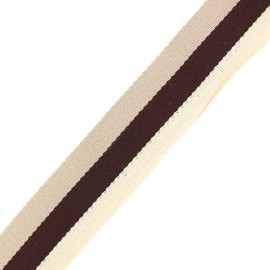 40 mm Reversible Striped Strap - Nuance Beige x 50cm