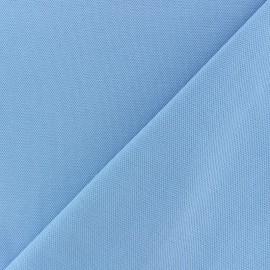 Tissu jersey piqué spécial Polo - bleu ciel x 10cm