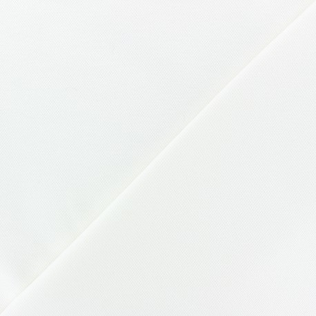 Tissu jersey piqué spécial Polo - blanc x 10cm