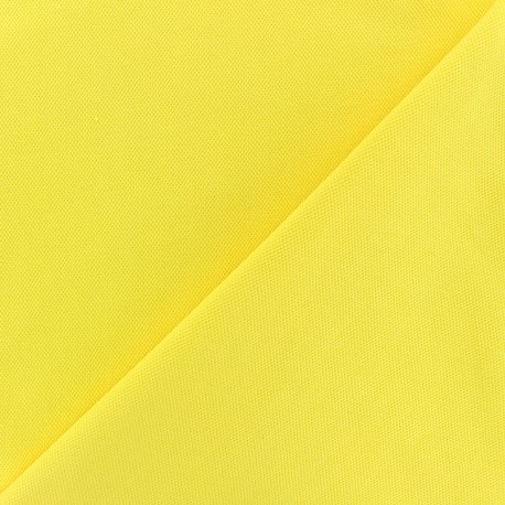 Special Polo cotton fabric - lemon yellow x 10cm