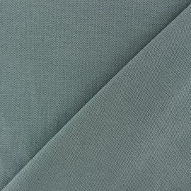 Tissu jersey piqué spécial Polo - vert de gris x 10cm