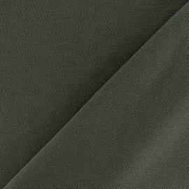 Tissu jersey piqué spécial Polo - vert kaki x 10cm