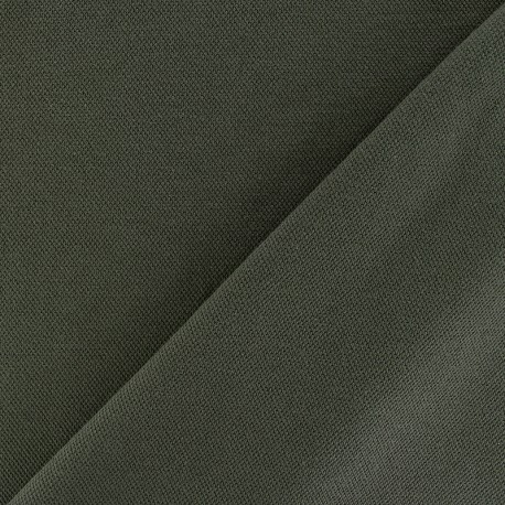 Special Polo cotton fabric - khaki green x 10cm