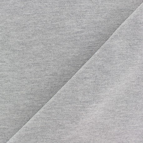 Special Polo cotton fabric - mottled grey x 10cm