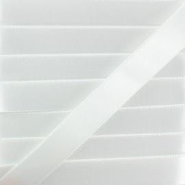 Ruban Satin Chausson de Danse 15 mm - Blanc x 1m