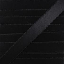Ruban Satin Chausson de Danse 15 mm - Noir x 1m