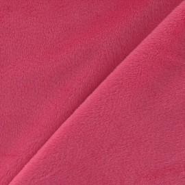 Tissu velours minkee doux ras fuchsia x 10cm